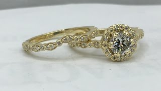 Making A Custom Designed Gold And Diamond Wedding Ring Set