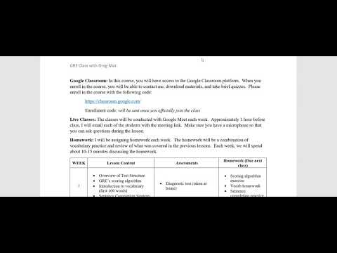 Join my 8-week GRE Preparation Course - YouTube