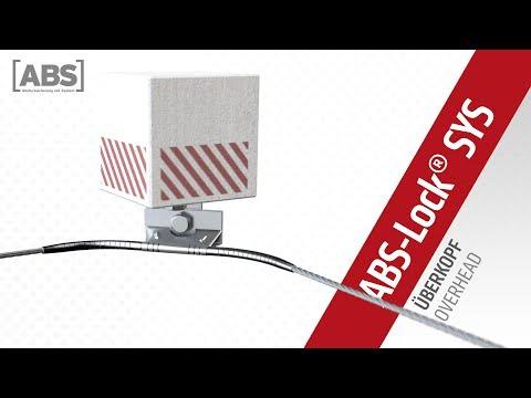 Présentation vidéo compacte de la ligne de vie ABS-Lock SYS montée au-dessus du niveau de la tête