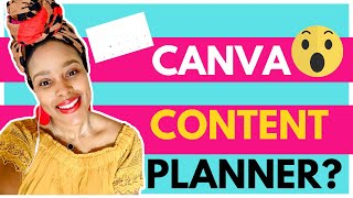 How to Schedule Your Social Media with the Canva Content Planner 2020