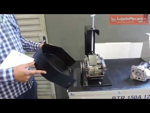Bancada de Teste para Eletricista com Motor Monofásico 3HP Bivolt - Video
