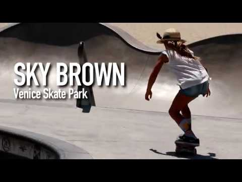 Little Skater Girl: Sky Brown tearing it up at Venice Skate Park
