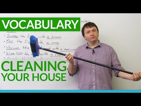 English Vocabulary: House Cleaning