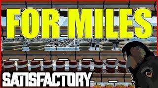 Satisfactory Gameplay | Jetpack | M4 Conveyor for miles