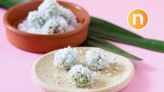 Onde-Onde | Pandan-Flavored Glutinous Rice Balls with Palm Sugar | Buah Melaka [Nyonya Cooking]