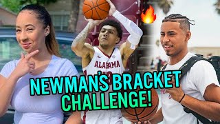 Jaden & Julian Newman March Madness Bracket Challenge! She Has Jellyfam JQ Going All The Way!?