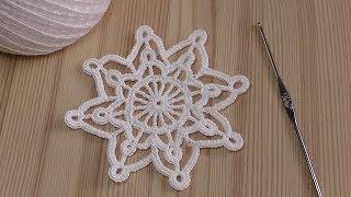 Вязание крючком  СНЕЖИНКИ  How to crochet snowflake