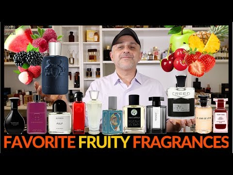 , title : '28 Fruity Fragrances   Favorite Fruity Perfumes 🍌 🍉 🍓🍒 🍏 🍍