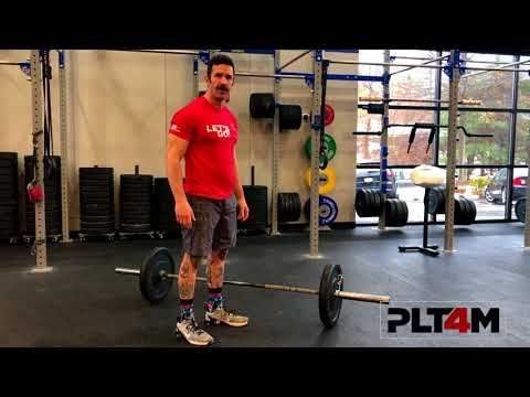 Lateral Bar Burpees