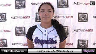 2024 Angel Amesa 3.8 GPA Catcher Softball Skills Video - Ca Grapettes McNair