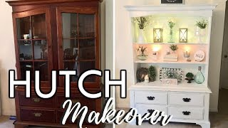 DIY HUTCH MAKEOVER / HOW TO CHALK PAINT FURNITURE / RUSTIC FARMHOUSE STYLE / IN WITH JEN