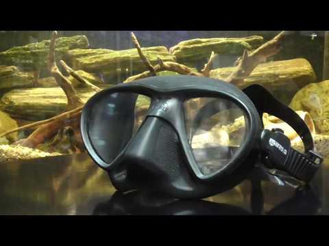 Маска для подводной охоты фридайвинга Mares X-Free Video #1
