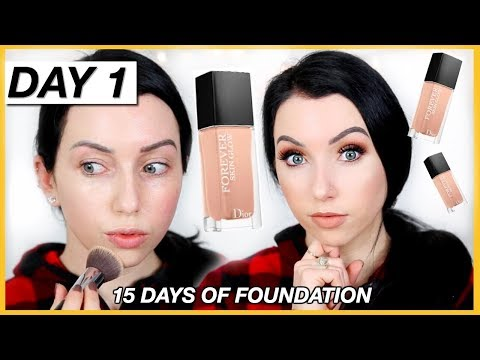 New DIOR FOREVER SKIN GLOW 24HR FOUNDATION! {First Impression Review & Demo!} Dry Skin