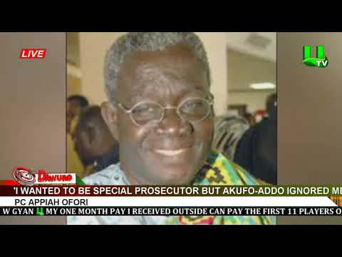 'I wanted to be Special Prosecutor but Akufo-Addo ignored me' – PC Appiah Ofori