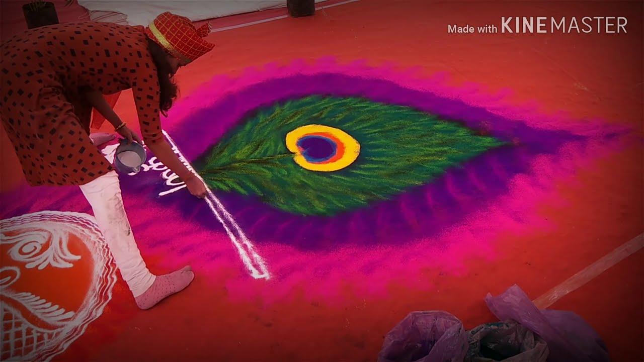 rangoli design time lapse by rajashri junnarkar