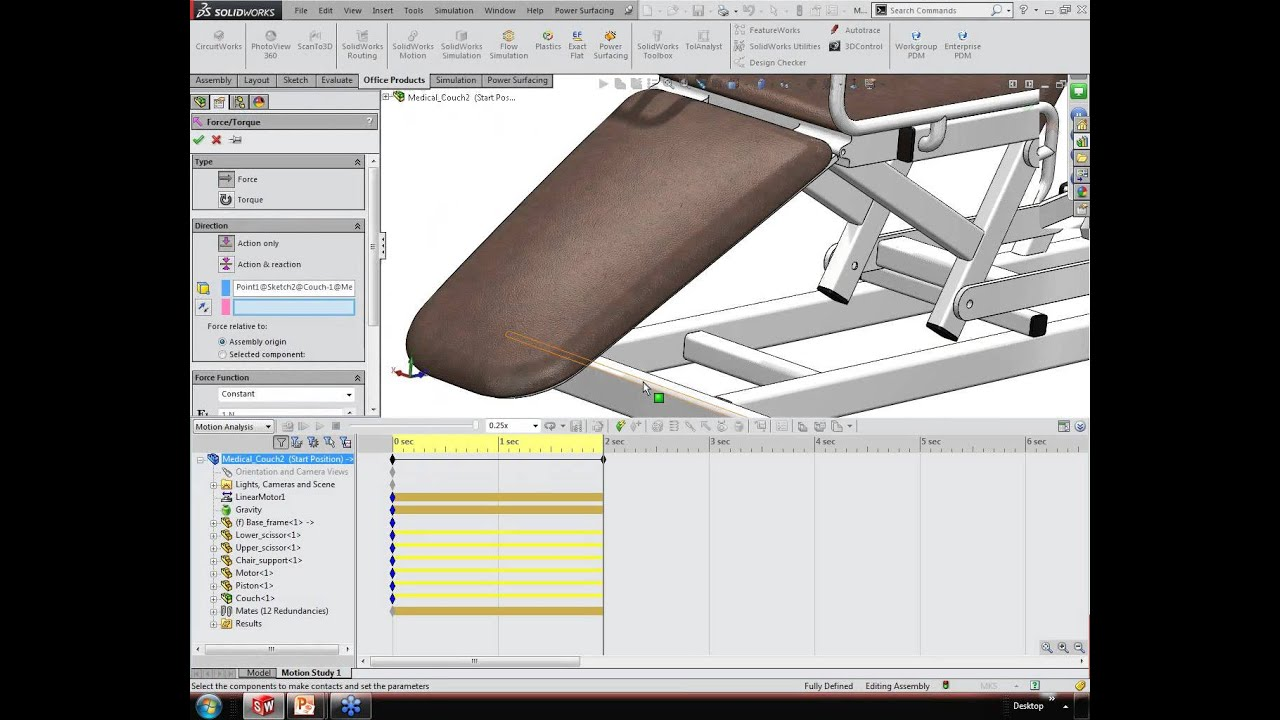 Discover SolidWorks Premium - Motion Simulation - YouTube
