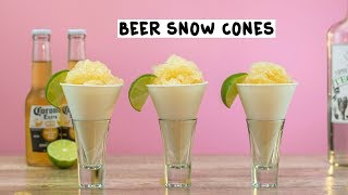 Beer Snow Cone with Tequila and Lime - Tipsy Bartender