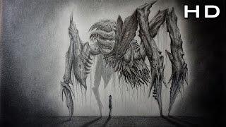 Cómo Dibujar un Monstruo Realista Paso a Paso - Dead Space Art