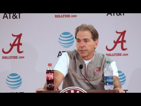 Nick Saban holds final press conference before Alabama-LSU