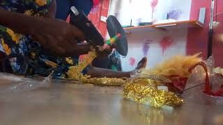 How to make bridal hand fan chat us on 08032372486