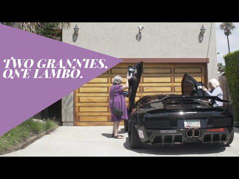 2名超過百歲的阿嬤要開著藍寶堅尼去買菜 結果...