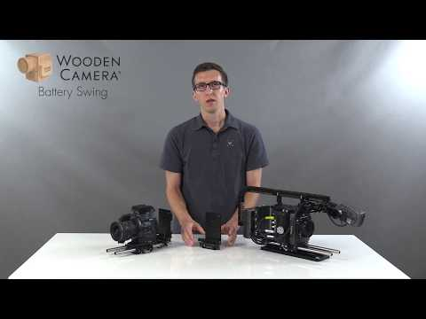 Wooden Camera Battery Swing Away