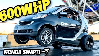 600HP Honda Powered Smart Car KaterTot GAPS EVERYONE + INTENSE Street Pulls! (2000LB Turbo K-SWAP) by  That Racing Channel