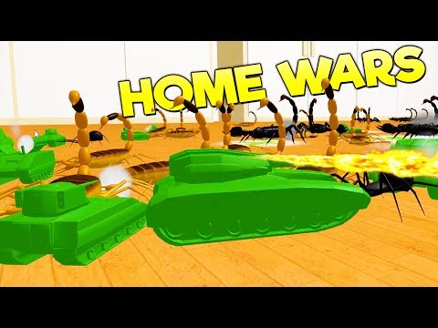 FLAMETHROWER ARMY TANKS TORCH GIANT SCORPIONS! Massive Campaign Battle - Home Wars Gameplay