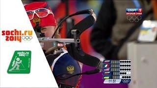 XXII Зимние Олимпийские Игры.Биатлон.Эстафета.Женщины.