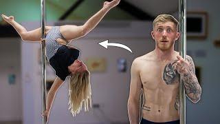 Gymnast tries 'POLE DANCING' ft Bendy Kate