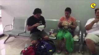 Inday Sara Duterte And Baste Duterte Share Meal At Cebu Airport