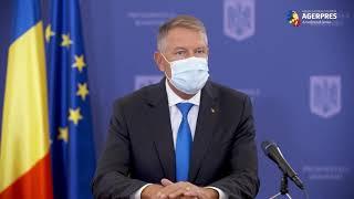 Iohannis despre începutul anului şcolar: Eu consider că a fost un succes în aceste condiţii dificile de pandemie