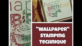 Wallpaper Technique For Card Sentiments