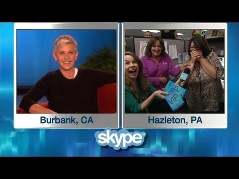 Ellen Surprises Two Office Mates