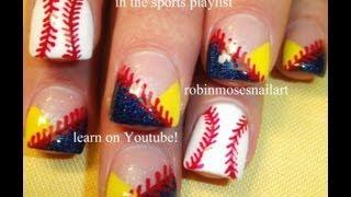 Easy Nail Art for Beginners - Baseball Nails DIY Tutorial