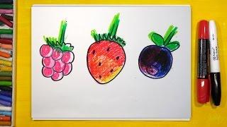 Сладкие ягоды Малина, Клубника, Черника