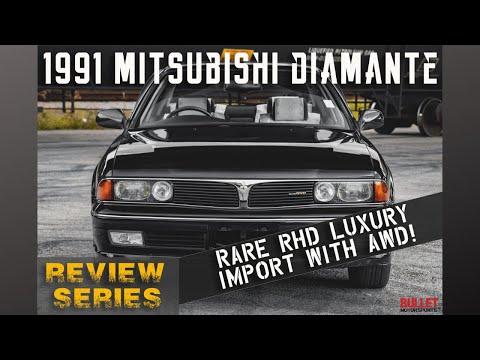 RARE 1991 Mitsubishi Diamante RHD [4k]   REVIEW SERIES