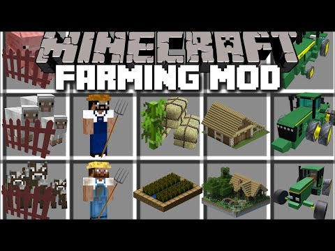 Minecraft EXTREME FARMING MOD / BECOME A FARMER AND BUILD ANIMAL FARMS !! Minecraft