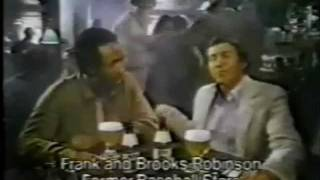 1980 Brooks Robinson Frank Robinson Miller Lite Commerial Baltimore Orioles