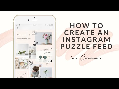 Canva Instagram Puzzle Feed   How to create an Instagram