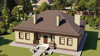 Проект дома 149-B, Площадь дома: 149 м2, Размер дома:  12,2x15,3 м