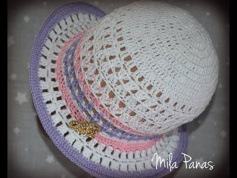 Вяжем летнюю шляпку крючком. часть 2. Тулья