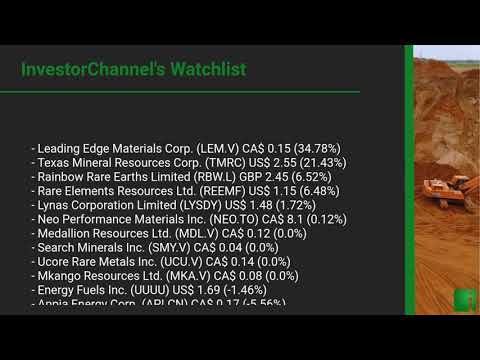 InvestorChannel's Rare Earths Watchlist Update for Thursda ... Thumbnail