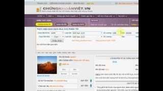 Video hướng dẫn chơi ck trên website chungkhoanviet.vn
