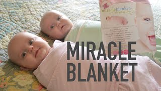 HOW TO SWADDLE TWINS IN MIRACLE BLANKET - WashTV