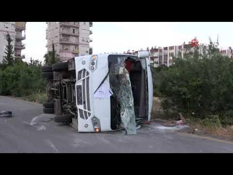Antalya'da iç burkan kaza: 2 yaralı