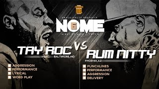 TAY ROC VS RUM NITTY SMACK/ URL RAP BATTLE | URLTV