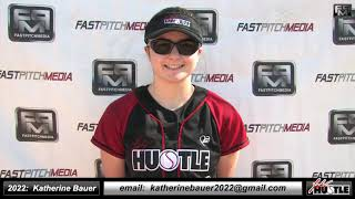 2022 Katherine Bauer Athletic Catcher & 3rd Base Softball Skills Video Lady Hustle 18 Gold Marshall