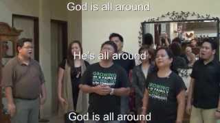 God Is All Around with Lyrics