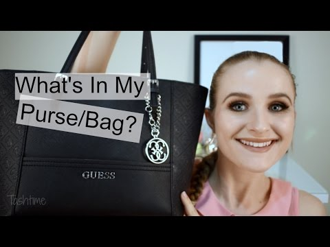 What's in my Guess Purse/Bag 2017   Tashtime